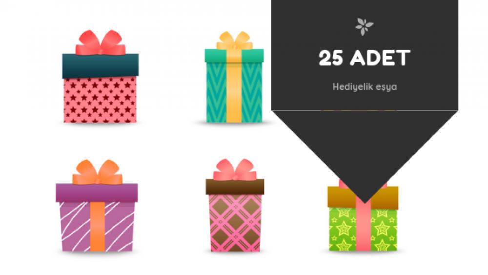 25 adet el yapımı hediyelik eşya hazırlanışı
